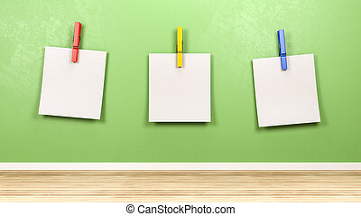 Reminder Blank Paper Notes in the Room