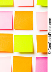 Reminder notes isolated on the white background