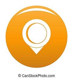 Reminder pin icon orange