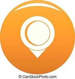 Reminder pin icon vector orange
