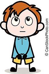Reminder - School Boy Cartoon Character Vector Illustration