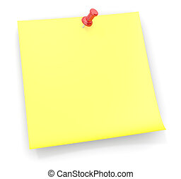 Reminder Sticky Note - Sticky note with a red semi ...