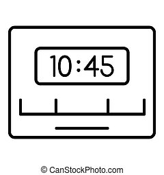 Reminder timer clock icon, outline style