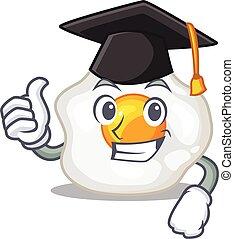 remise de diplomes, chapeau, oeuf, frit, heureux, fier, ...