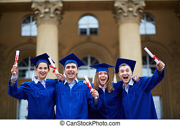 remise de diplomes, excitation