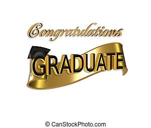 remise de diplomes, félicitations
