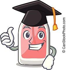 remise de diplomes, forme, parfum, botlle, dessin animé