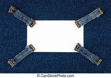 remmar, lögner, jeans, kort, fyra, mörk, affär, denim