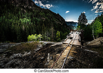 Remnant of the Old Mine Ouray District Mt Monarch Colorado ...