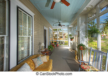 Country Porch - Remodeled Country Porch in Rural Eastern...