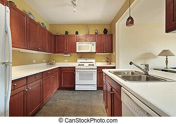 Remodeled wood kitchen