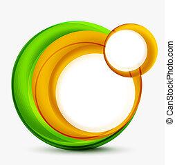 remolino, círculos, resumen, vector, plano de fondo