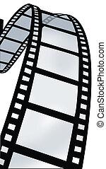 remolino, carrete, película