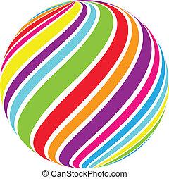 remolino, esfera, resumen, vector