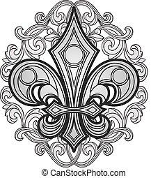 remolino, símbolo, ornamento, protector