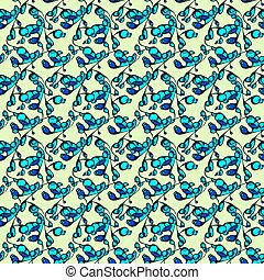 remolinos, pattern., seamless, resumen