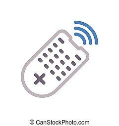 remote  color line icon