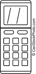 Remote control air conditioner icon, outline style
