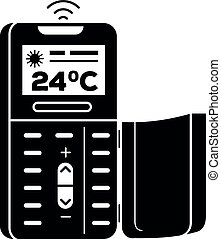 Remote control air conditioner icon, simple style - Remote...