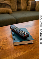 Remote Control and coffee table