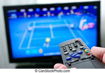 Remote control and tennis match