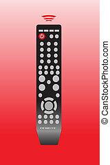 remote control color vector illustration