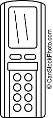Remote control conditioner icon, outline style - Remote...