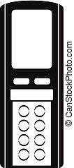 Remote control conditioner icon, simple style - Remote...