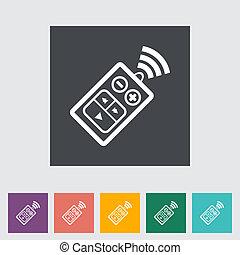 Remote control flat icon - Car remote control flat icon. ...