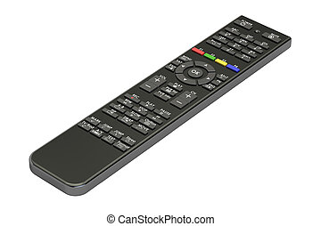 Remote control from digital satellite receiver, 3D rendering