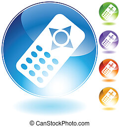 Remote Control Icon isolated on a white background.