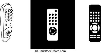 remote control icon on white background