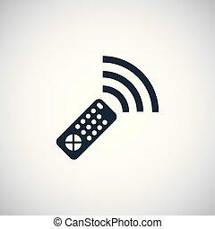 remote control icon simple flat element design concept