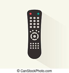 Remote control icon, vector illustration