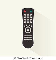 Remote control icon, vector illustration