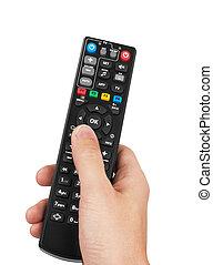Remote control in hand