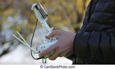 Remote control of the dron - White remote control of the...