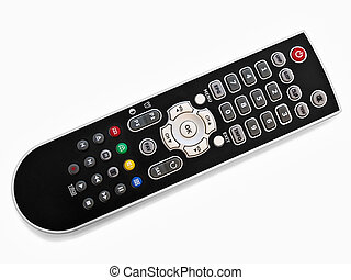 remote control - black modern remote control over the white...