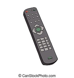 Remote control television, color illustration