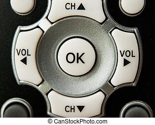 Remote control television