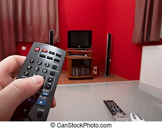 Remote control to switch the tv on