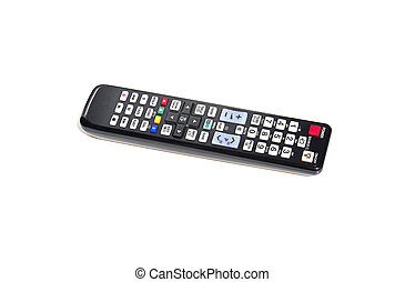 Remote control - TV remote control isolated on white ...