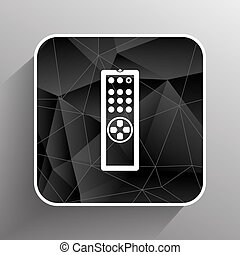 Remote control tv vector icon isolated media