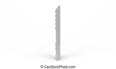Remote control rotates on white background