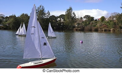 Remote controlled sailing yachts