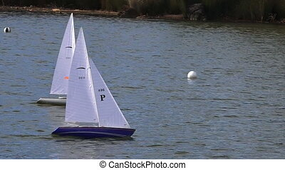 Remote controlled sailing yachts - Two remote controlled...