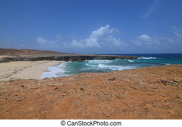 Remote Daimari Beach with Waves Rolling Ashore