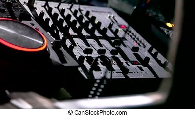 Remote DJ close-up watch HD