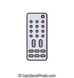 remote   flat color icon