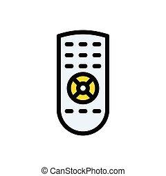 remote  glyph flat icon